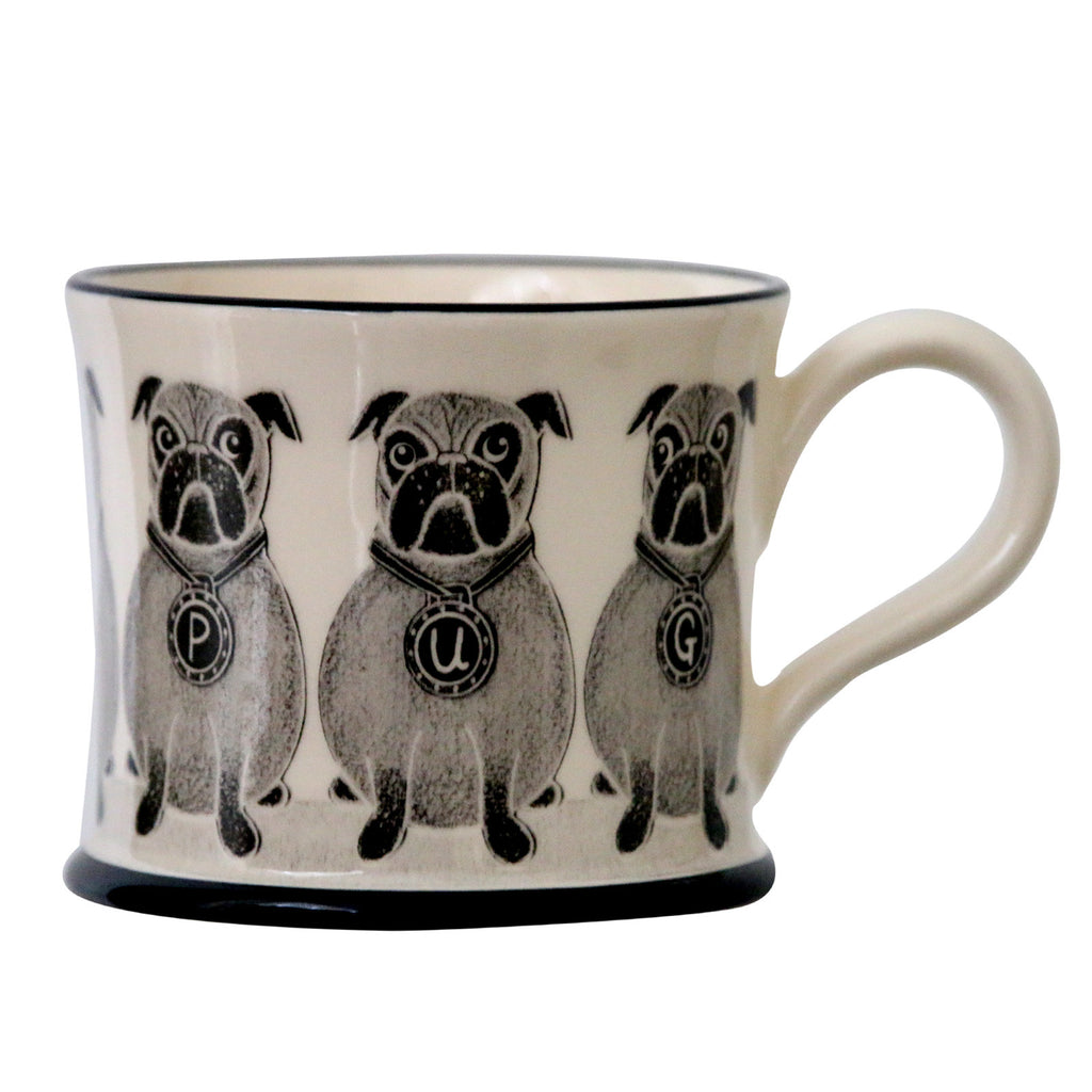 Pug - Earthen Ware Mug by Moorland Pottery