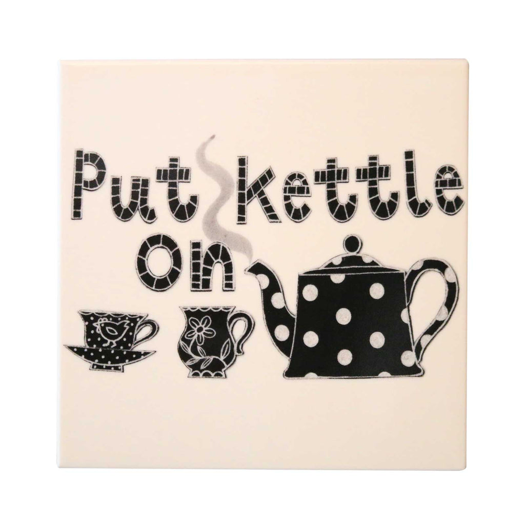 Put Kettle On Ceramic Tea Pot Stand