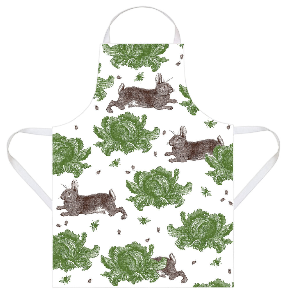 Classic Rabbit & Cabbage Apron by Thornback and Peel