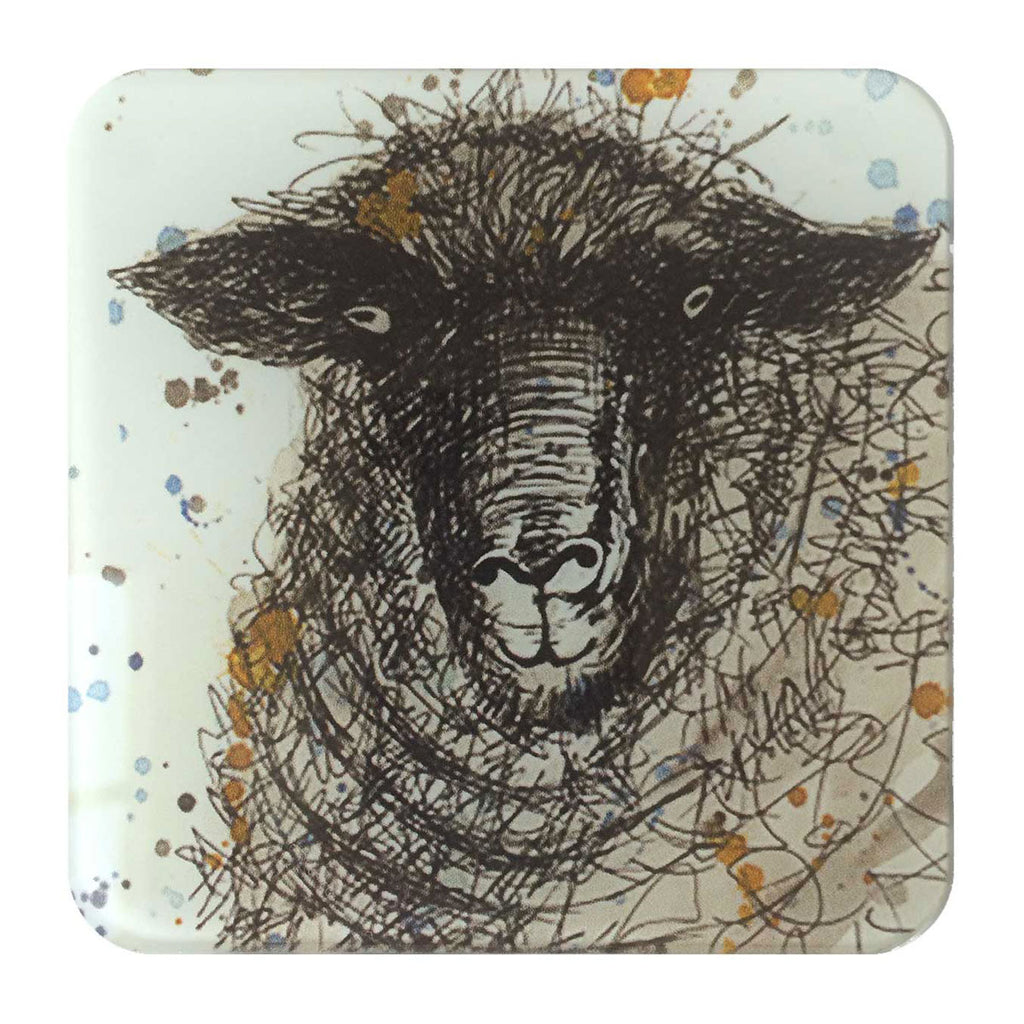 Sheep Glass Coaster by Sarah Boddy