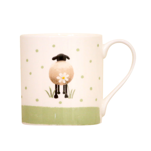 Sheep and Daisies bone China Mug