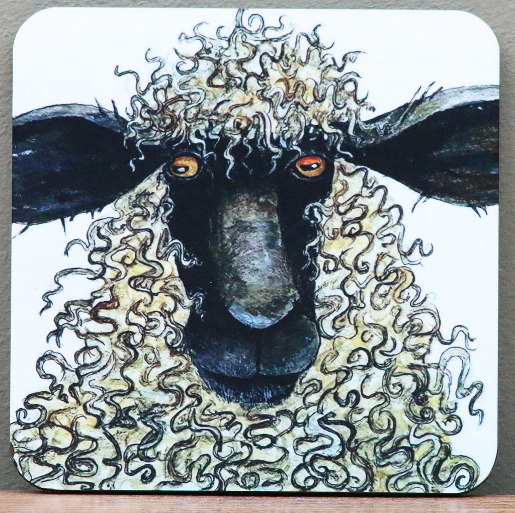 Sheep Coaster by Clare Tyas