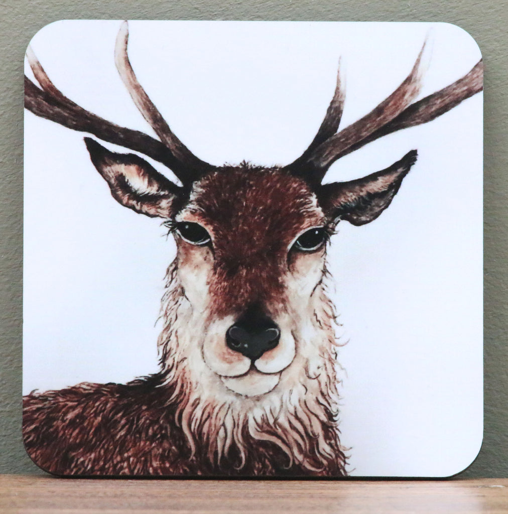 Stag Coaster by Clare Tyas.