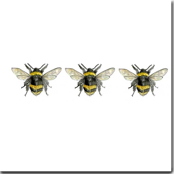 Three Bees Greeting Card