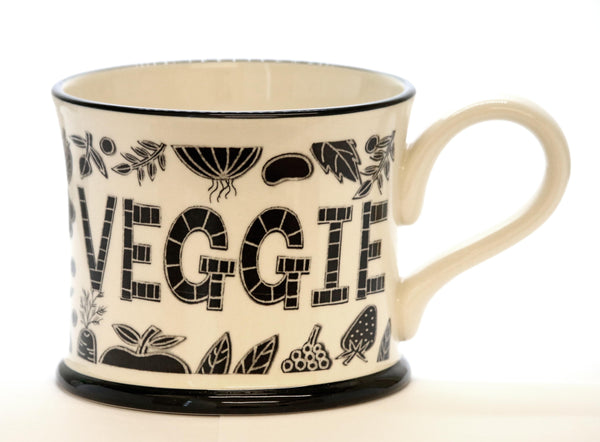 Trust me I'm a Veggie - Earthen Ware Mug by Moorland Pottery