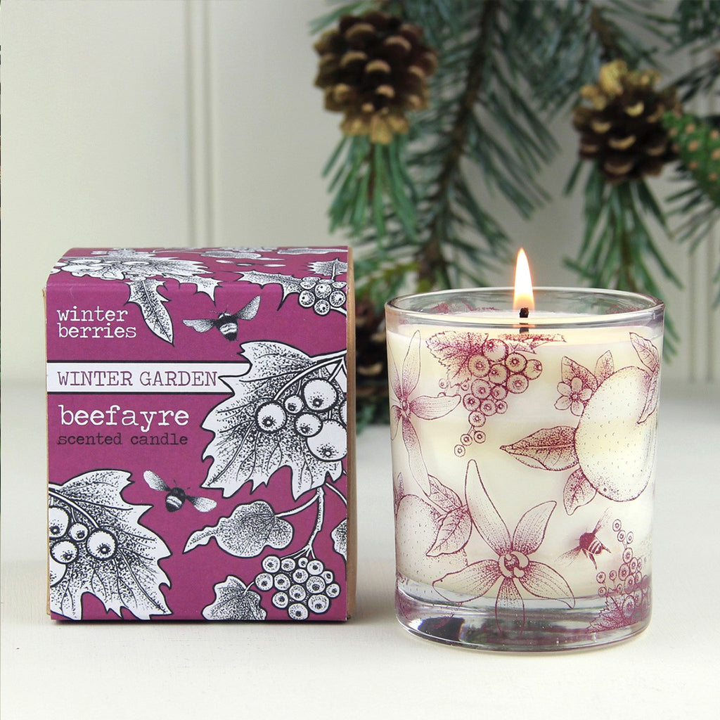 Winter Berries Large Candle by Beefayre