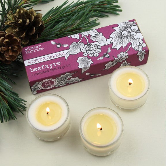 Winter Berries Tea Lights