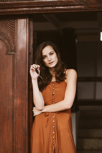 Cascade Dress | Nutmeg