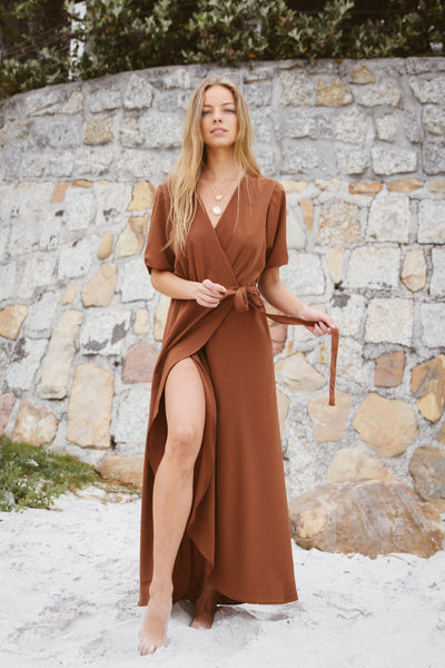 Wrap Dress | Rust