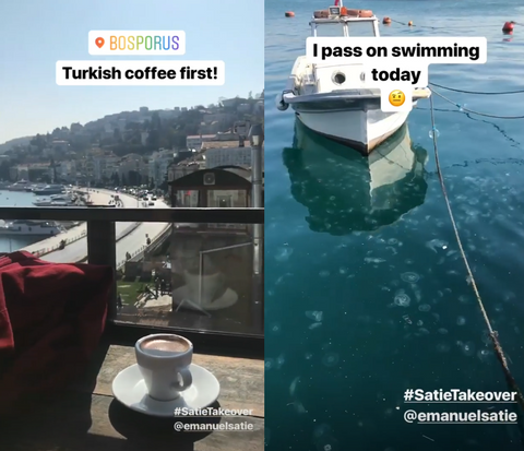 Emanuel Satie Drinking Turkish Coffee and Turkish Water with Jellyfish