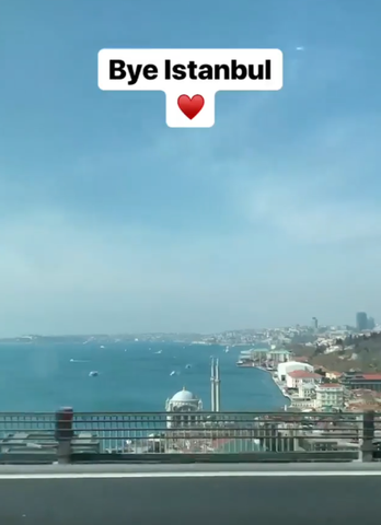 Emanuel Satie says good bye to Istanbul Turkey