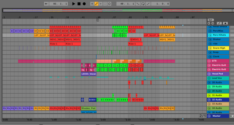 Picture of Ableton Showing That You Should Start With Arrangement And Mix Later