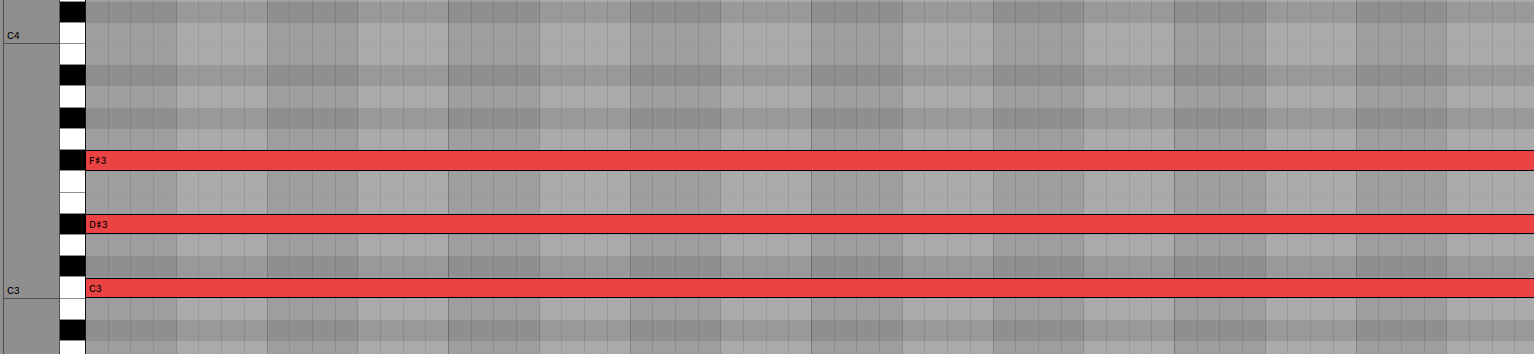 C Dim Diminished Chord Piano Roll Ableton Live 11 Music Theory
