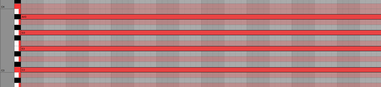 C Major Minor Seventh Chord Piano Roll Ableton Live 11 Music Theory