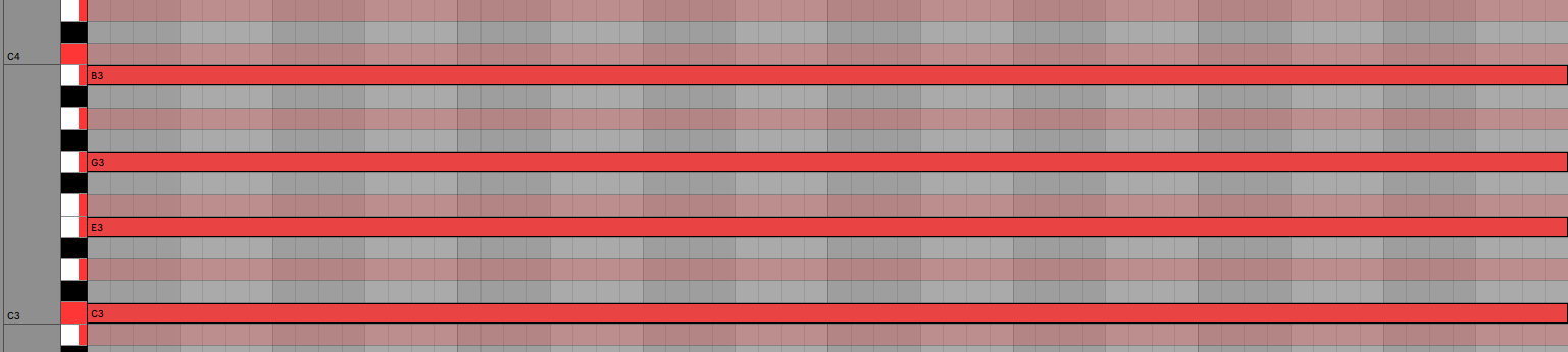 C Major Seventh Chord Piano Roll Ableton Live 11