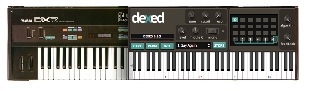 Yamaha DX7 & Dexed