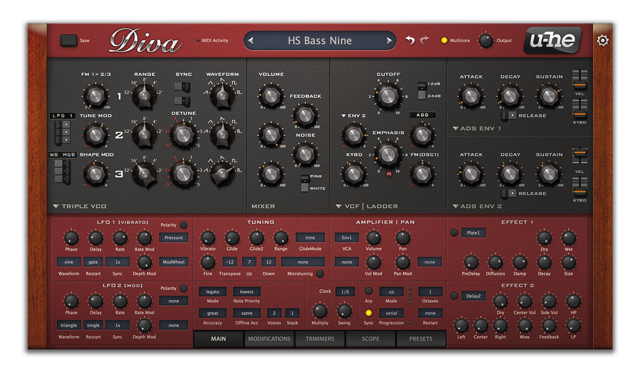 Diva is one of the best synths for beginners