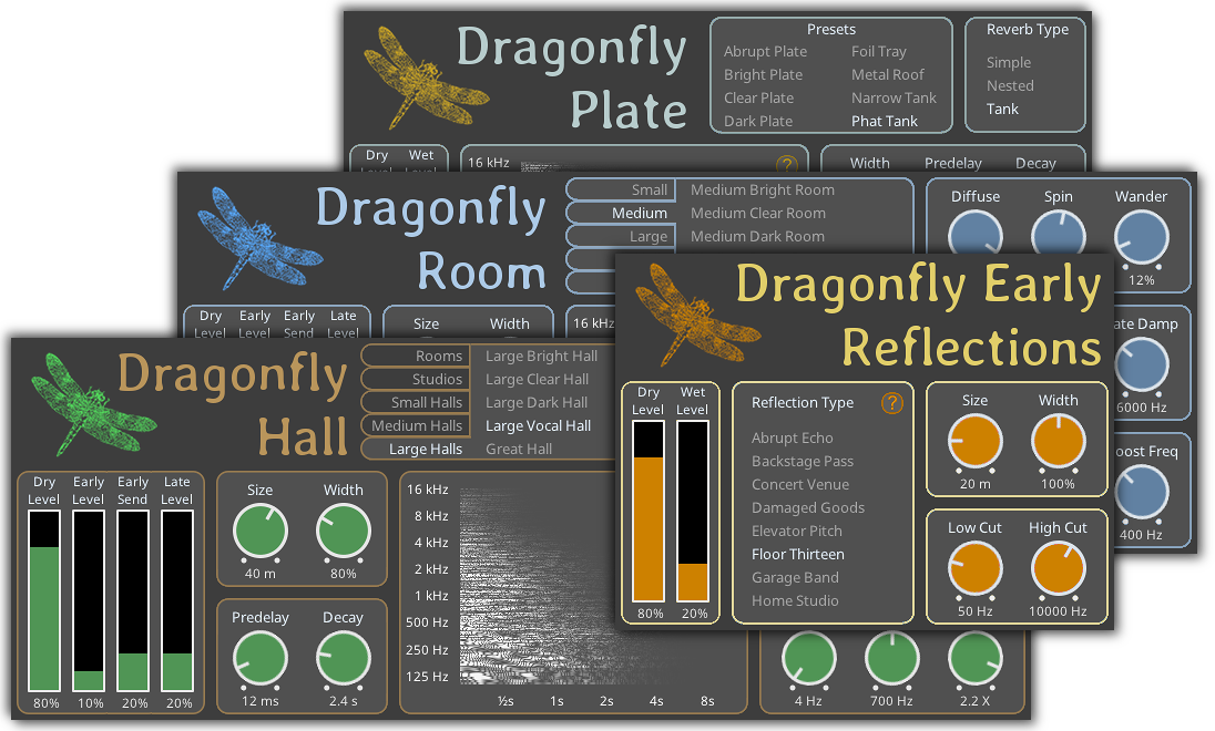 Dragonfly Reverb by Dragonfly free reverb vst plugin