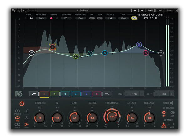 Best VST plugin for mixing Vocals F6 Floating Band Dynamic EQ by Waves