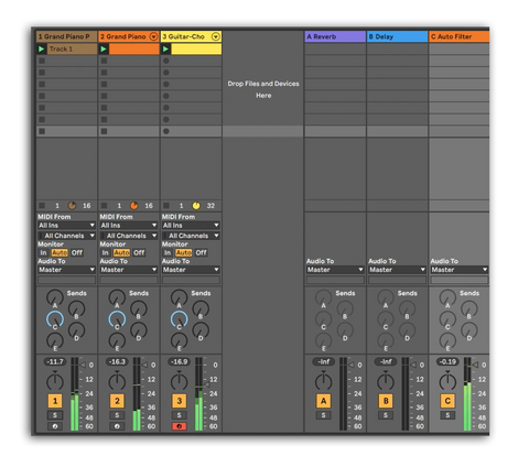 Effect Buses and Sends in Ableton Live 10