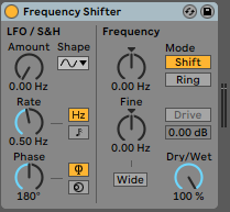 Frequency Shifter Audio Effect