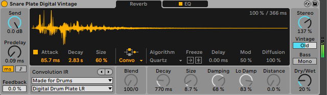 How To Make Fatter Drums Add Reverb Ableton