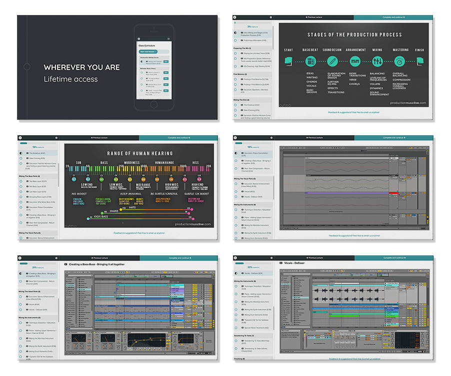Screen Shots from the Mixing Course