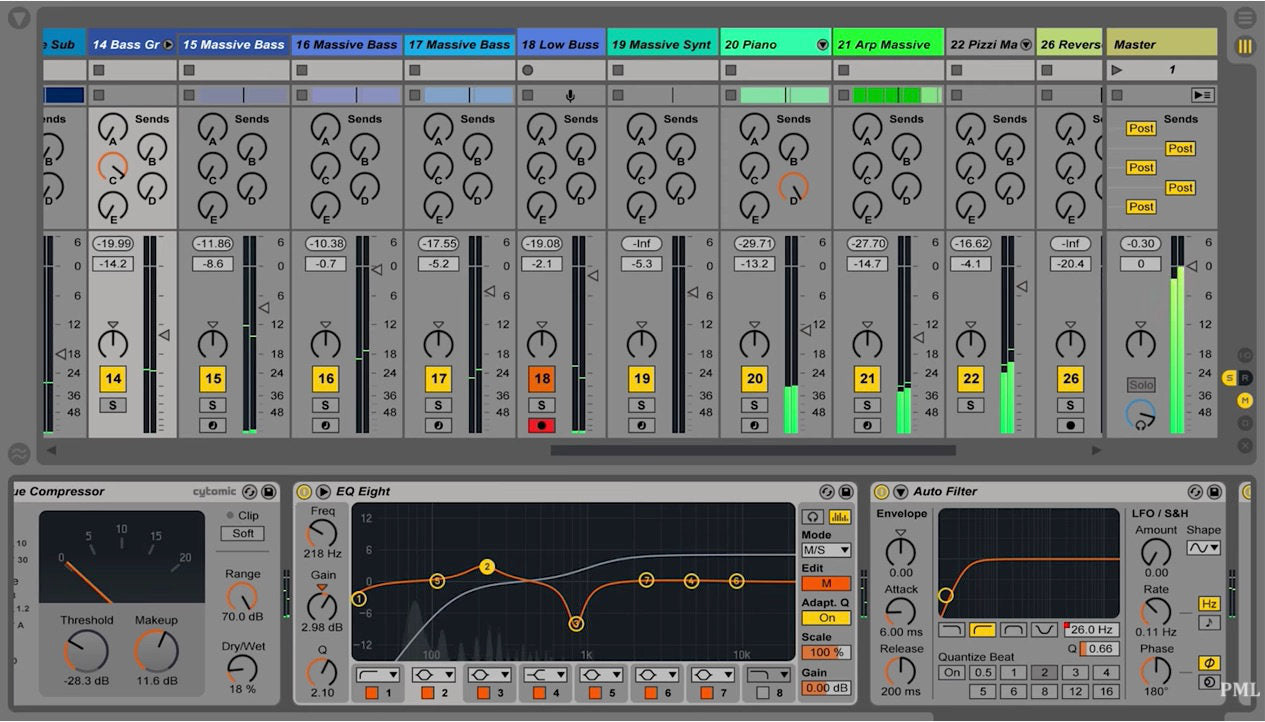 Ableton Mixing Channel Strip