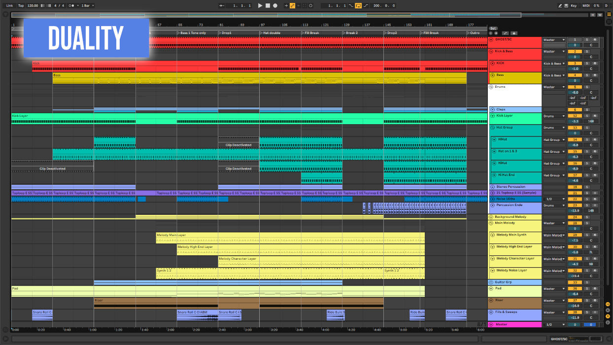 Duality Ableton template