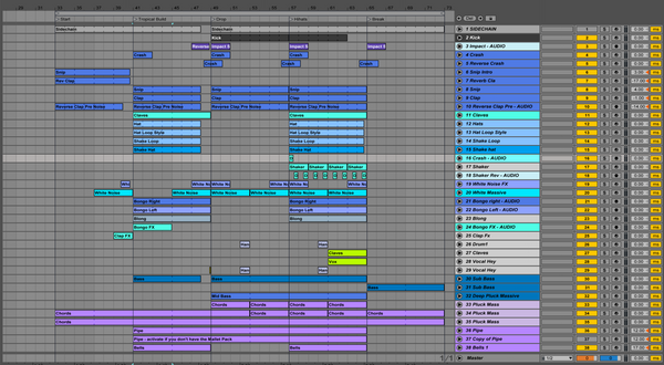 Ableton Screen Shot - I took a pill in ibiza