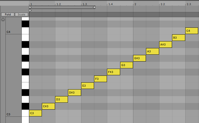 Piano Roll Notes Ableton Live 11
