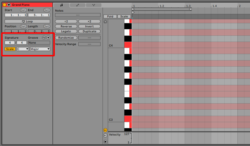 Ableton Live 11 Scale Mode