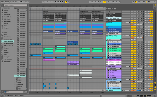 Screenshot Oshi Ableton Project