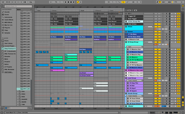 Oshii Style Ableton Screenshot