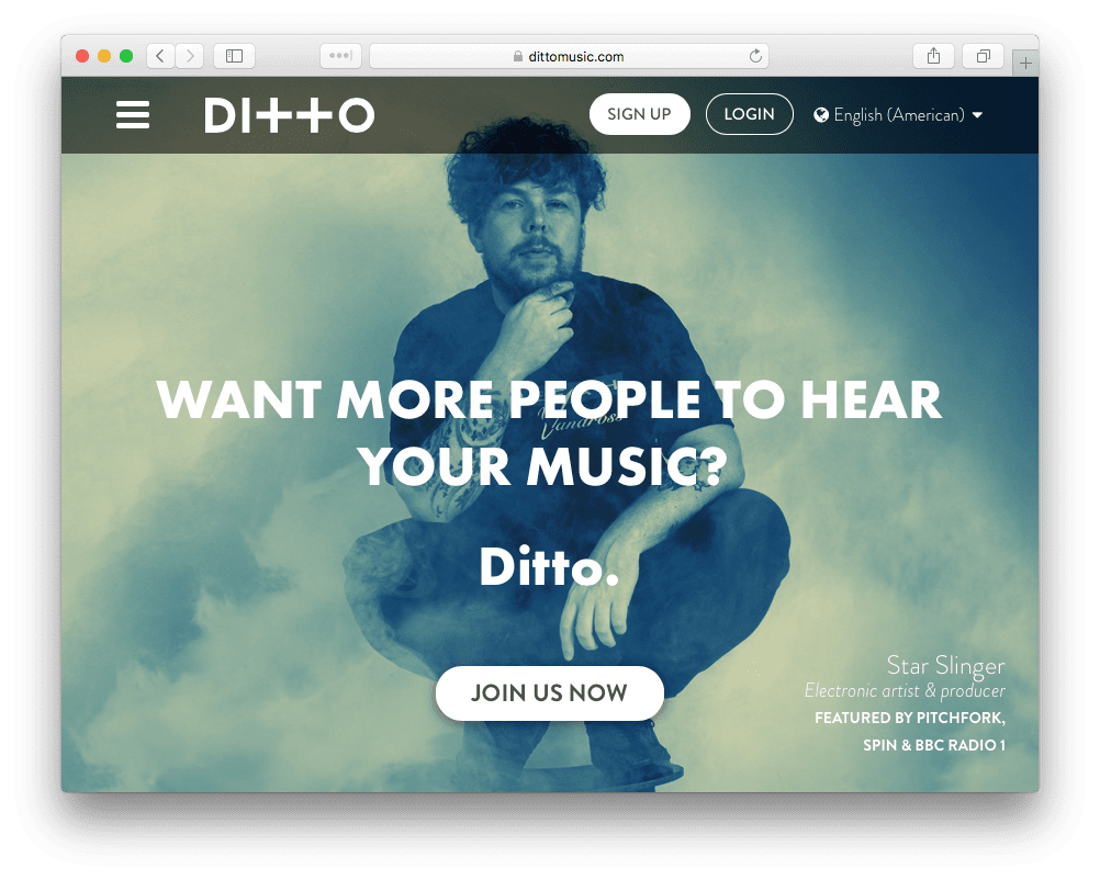 ditto music distribution for spotify