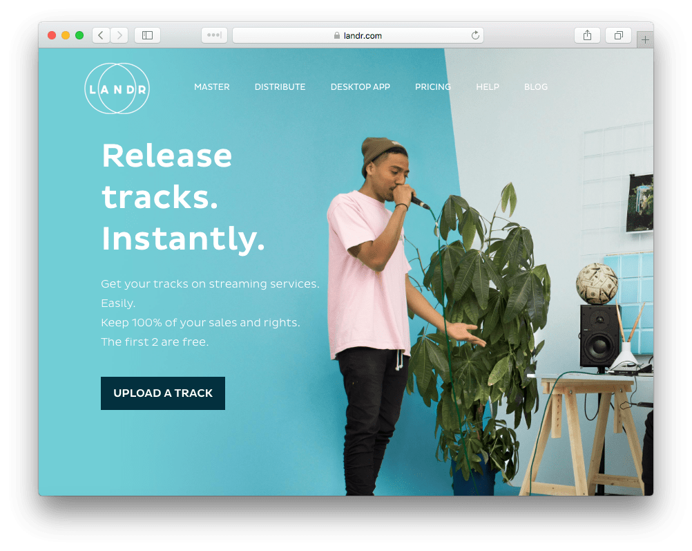 landr music distribution for spotify