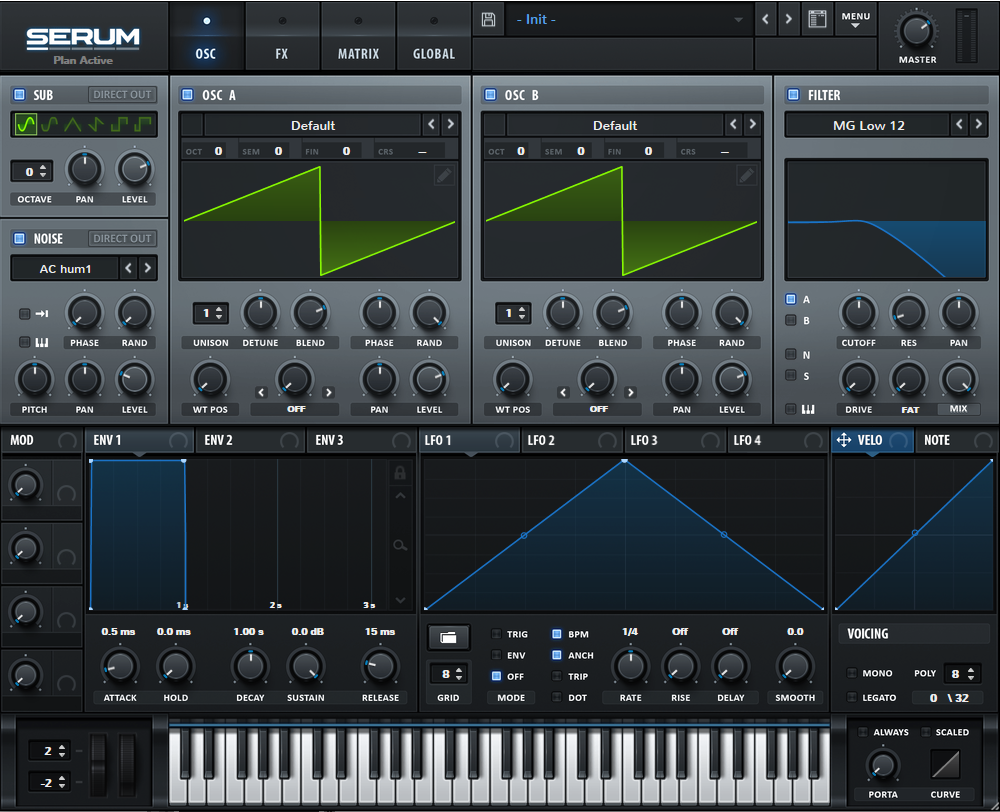 Serum Synth Init Preset Main View