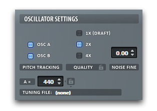 Serum Oscillator Settings