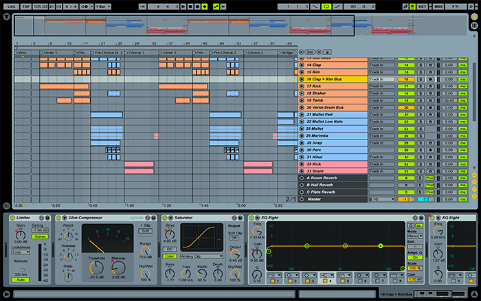 Summer Vibes Ableton Template Screenshot