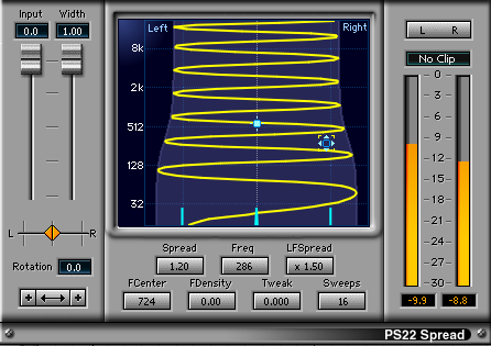 mixing music overwidening