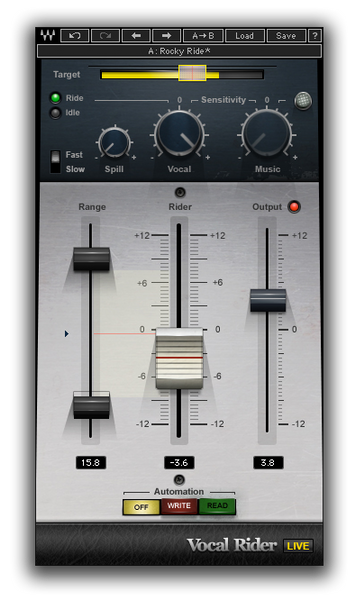 Best VST plugin for mixing Vocals Vocal Rider by Waves