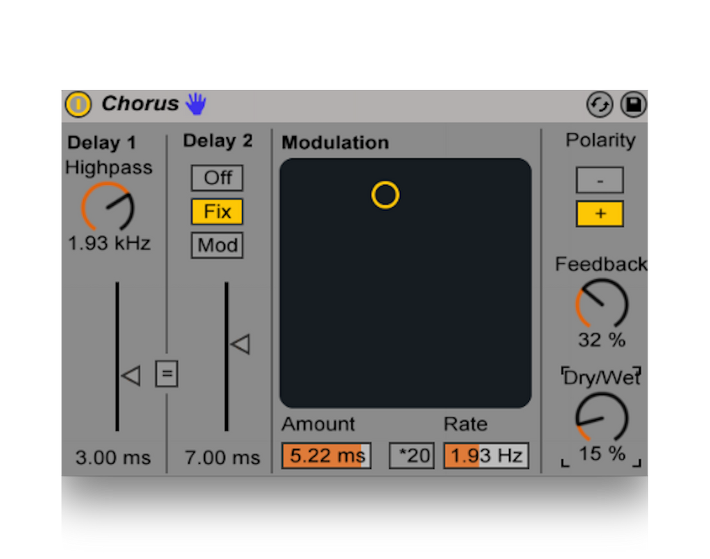Ableton Stock Chorus Mastering Chains