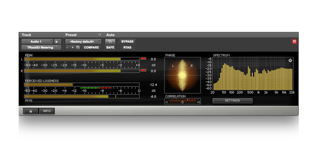 T-RackS Spectrum Analyzer Mastering Chains