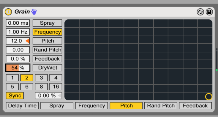 grain delay pitch effect