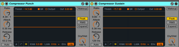Compressor Punch and Sustain Ableton