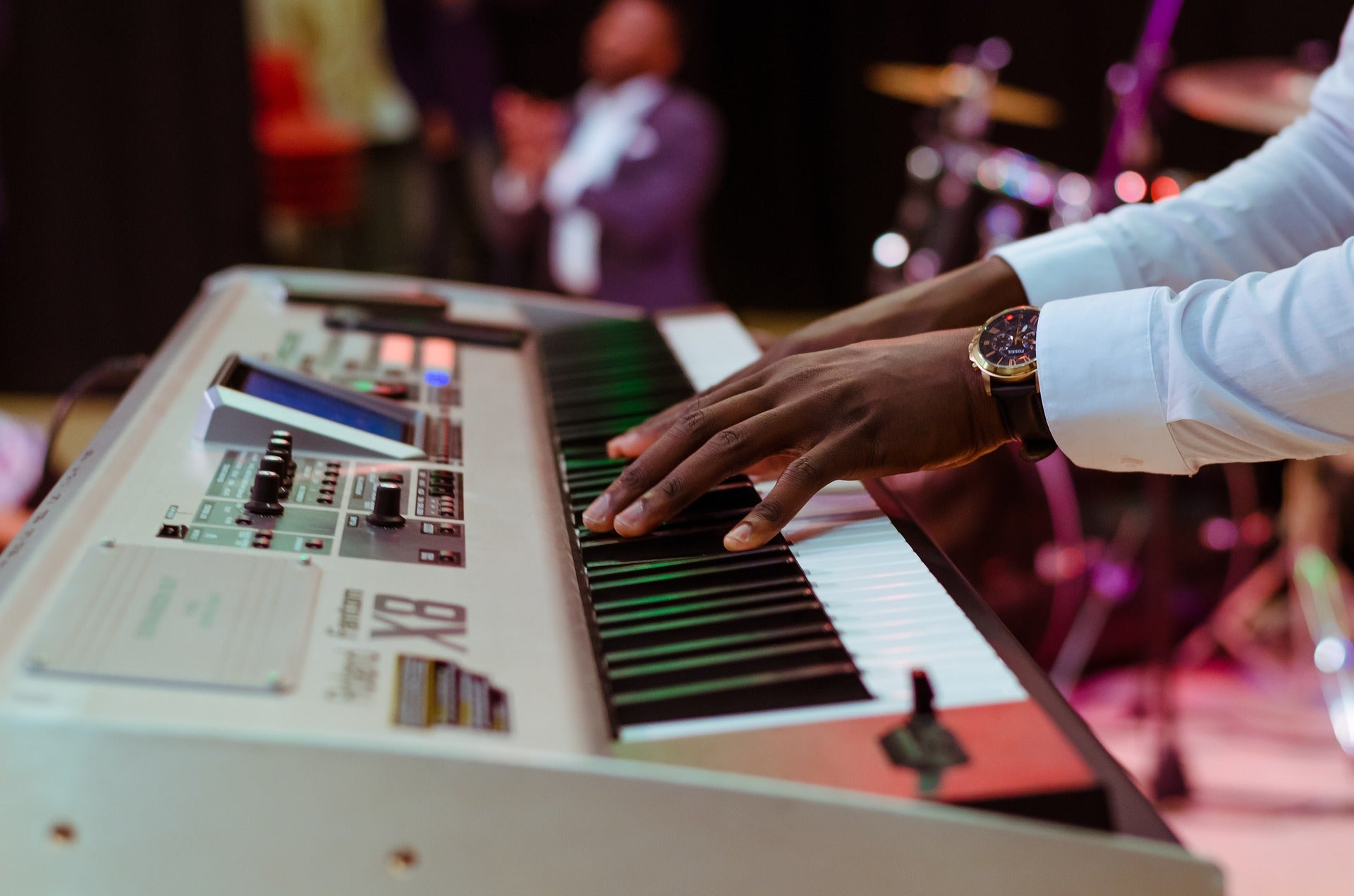 What Is A Chord Electronic Piano Player Makes A Chord On Keyboard