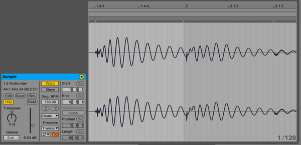 Ableton Live 9.5 more precise waveforms