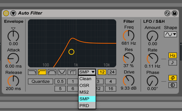 Ableton Live 9.5 Filter Update