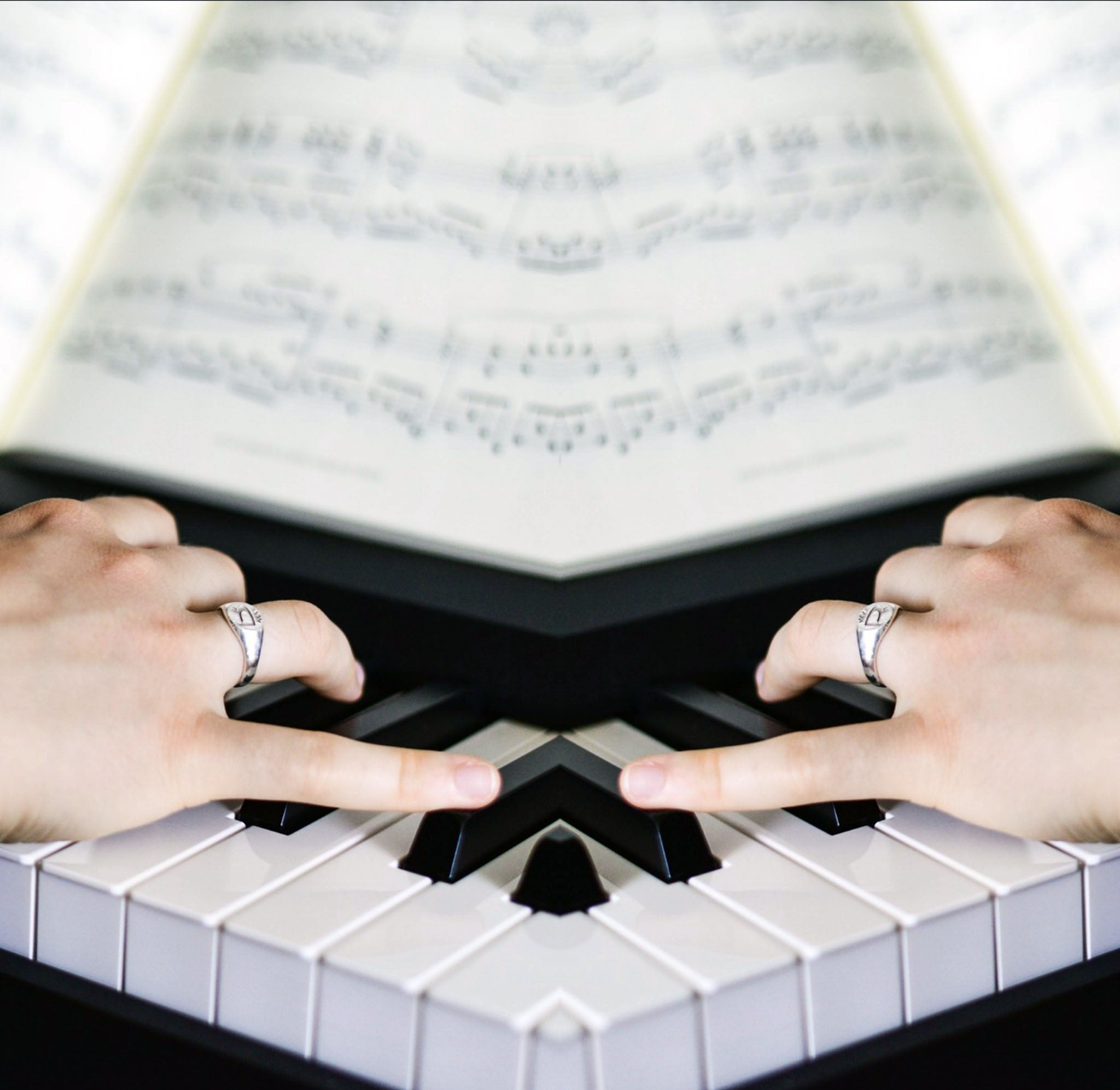 How To Make Chord Progressions Head Image Of Mirrored Piano