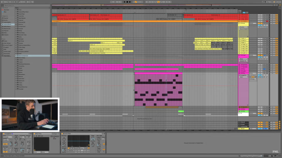Johannes Menzel presenting a track in Ableton 11